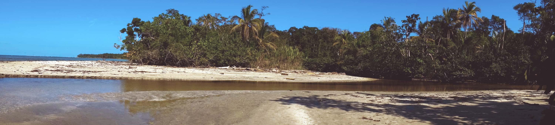Bild vom Strand im Nationalpark Cahuita