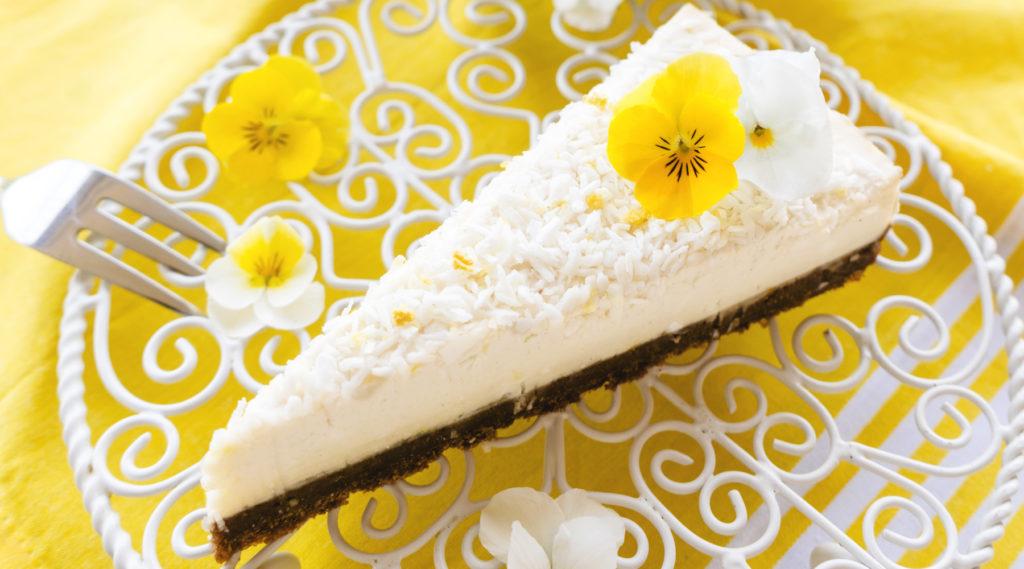 Kokos Cashew Torte – Ein Traum aus weißer Cremigkeit!